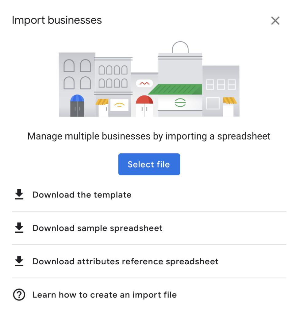 bulk upload Google My Business locations